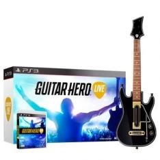Guitar Hero Live - PS3 - Jogo e Guitarra - R$119,90