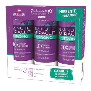 KIT CREME DE TRATAMENTO AUSSIE 3 MINUTE MIRACLE - LEVE 3 PAGUE 2 R$69,90