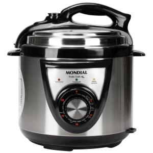 Panela de Pressão Elétrica Mondial PE27 Pratic Cook 4L - Inox por R$ 140