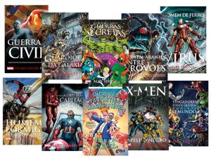 Kit Marvel - 10 Vols. - Acompanha Sacola - [Ed. Slim]