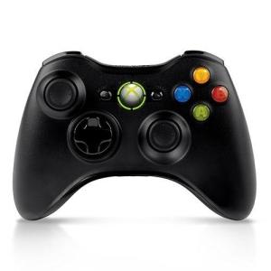 Controle Xbox 360 Sem Fio Preto por R$142