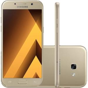"""Smartphone Samsung Galaxy A5 Dual Chip Android 6.0 Tela 5.2"""" Octa-Core 1.9GHz 32GB 4G Câmera 16MP - Dourado - 1.385,20"""