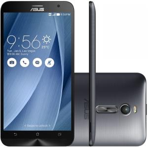 Smartphone Asus Zenfone 2 ZE551ML - Intel Z3580 2.3Ghz Tela 5.5 16Gb Prata + Película de Vidro Grátis Por R$ 1000