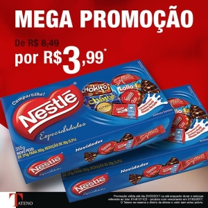 Caixa de Bombom Nestle por R$ 3,99