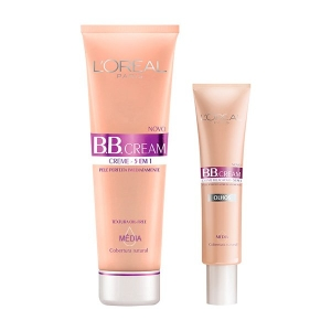 Kit L'Oréal Paris BB Cream FPS 20 + BB Cream para Olhos cor Média por R$47