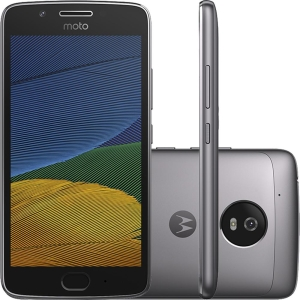 """Smartphone Moto G 5 Dual Chip Android 7.0 Tela 5"""" 32GB 4G Câmera 13MP - Platinum"""