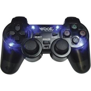 Joypad Para Play 2 Ebolt Eb802 Com 4 Leds Analógico Preto