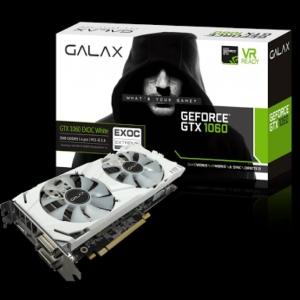 Placa de Vídeo Galax GeForce GTX 1060 3GB EX OC White GDDR5 192-Bit, 60NNH7DVM3NW