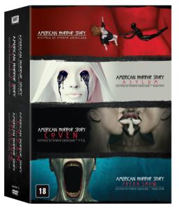 DVD American Horror Story - 1ª A 4ª Temporadas - 16 Discos