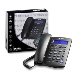 Telefone com fio Elgin TCF-3000 com identificador de chamada - R$ 34