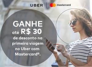 R$ 30 de desconto no Uber para pagamento com Mastercard