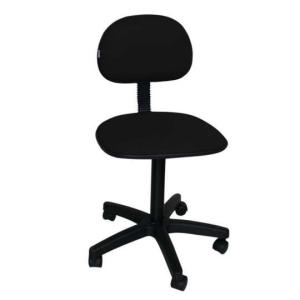 Cadeira de Escritório Secretária Giratória Pistão Fixo Tecido Preta - R$81