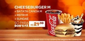 PROMOÇÃO CHEESEBURGER M + CANOA M + REFRI M + SUNDAE