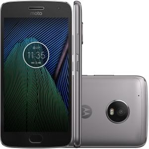 Smartphone Motorola Moto G5 Plus TV Digital XT1683 Octa-Core Android 7.0, Tela 5.2´, 32GB, 12MP, 4G, Dual Chip Desbloqueado - Platinum