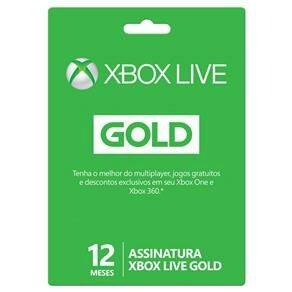 Xbox Live Gold - 12 Meses por R$ 108