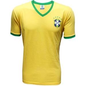 Camisa Brasil CBF 2014 Masc/Algodão - saindo por R$ 35,90