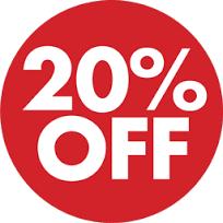 ETNA - 20% de desconto em marcas selecionadas.