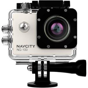 Câmera Esportiva Navcity NG-100 Prata 12MP Full HD + Case à Prova d'água 30m + Selfie Stick por R$ 237