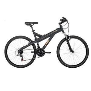 Bicicleta Aro 26 Caloi T-Type com Suspensão Dianteira e 21 Marchas - Preta - R$ 712