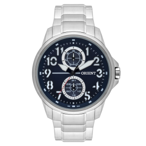 Relógio Masculino Analógico Orient MBSSM076 D2SX - Prata por R$ 230