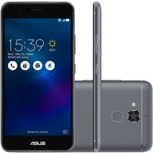 Smartphone Asus Zenfone 3 Max ZC520TL-4H133BR Quad Core, Android 6, Tela 5,2´, 16GB, 13MP, 4G, Dual Chip - Cinza Titânio - R$999