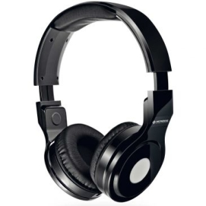 Fone de Ouvido Headphone Mondial Dobravél, Alças Ajustáveis, Isolamento Acústico, Cabo de 1,5m removível + Cartela de Adesivos -Preto-HP-01 por R$ 40