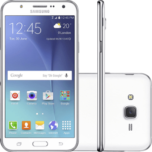 "Smartphone Samsung Galaxy J7 Duos Dual Chip Android 5.1 Tela 5.5"" 16GB 4G Câmera 13MP - Branco por R$ 720"