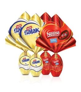 Combo Ovo De Páscoa Chocolate Branco E Chocolate Ao Leite por R$ 56