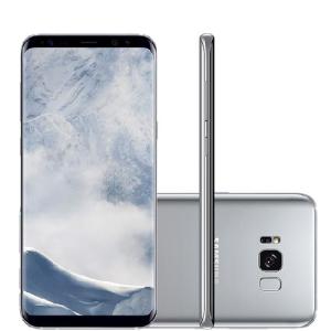 """Samsung Galaxy S8 Plus Prata 6,2"""" Câmera de 12MP 64GB Octa Core e 4GB de RAM - R$3.564"""