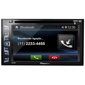 DVD Player Pioneer AVH-298BT 2 Din 6,2 Polegadas USB AUX AM FM Bluetooth Microfone