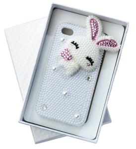 Capa Coelho Cristal para Iphone 4/4s - R$2,00