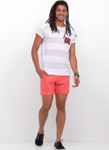 83,47% OFF - Camiseta Avesso com Bolso Estampado