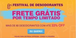 Festival de Desodorantes - Frete grátis Drogaria onofre