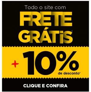 Ricardo Eletro está com 10% de desconto em todo site + frete grátis