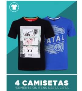 4 camisetas por R$99.99