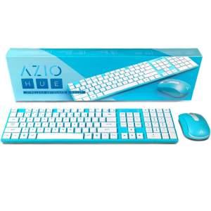 Teclado e Mouse Azio Sem fio Azul R$49.90
