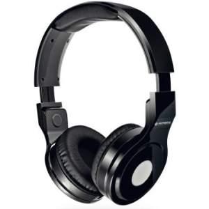 Headphone Mondial Dobravél, Alças Ajustáveis, Isolamento Acústico, Cabo de 1,5m removível + Cartela de Adesivos -Preto-HP-01