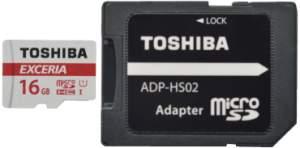 Cartão de Memória Toshiba Micro SD 16Gb Classe 10 + Adaptador