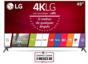 """Smart TV 4K LG LED 49"""" UJ7500 - R$2999"""