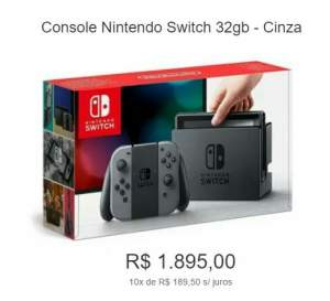 [Marketplace] Console Nintendo Switch 32gb - Cinza