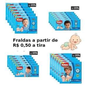 Kit Fraldas Huggies Turma da Mônica Tripla Proteção Jumbo por R$ 110
