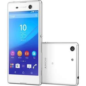 "Smartphone Sony Xperia M5 Dual Chip Android 5.0 Tela 5"" 16GB 4G Câmera 21MP - Branco"