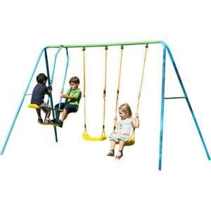Playground Multi com 2 Balanços Individuais 1 Balanço Vai e Vem brink+ - R$375