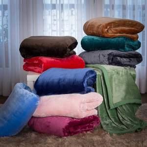 Cobertor King Flannel Colors com Borda em Percal - Casa & Conforto por R$ 120