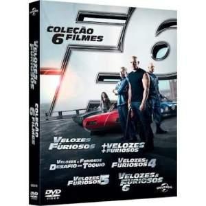 Coleção Blu-ray Velozes e Furiosos do 1 ao 6 - R$35