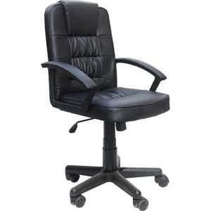 Cadeira Presidente MB-1513 Giratória Base Cromada Preto - Travel Max - R$250