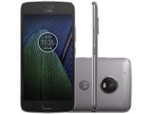 """Moto G5 Plus Platinum Motorola com Tela de 5,2"""", 4G, 32 GB e Câmera de 12 MP"""