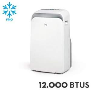 Ar Condicionado Portátil Midea 12.000 BTUs Liva Frio Branco - MPB12CRV1 - R$1.299