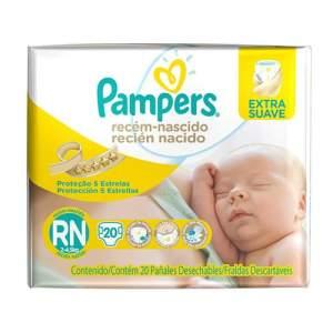 Fraldas Pampers Recém-Nascido RN - 20 Unidades - R$9