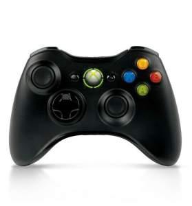 Controle Xbox 360 sem fio Preto por R$ 70